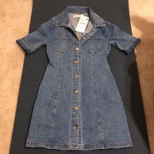 Zara Button Down Denim Dress or Jacket